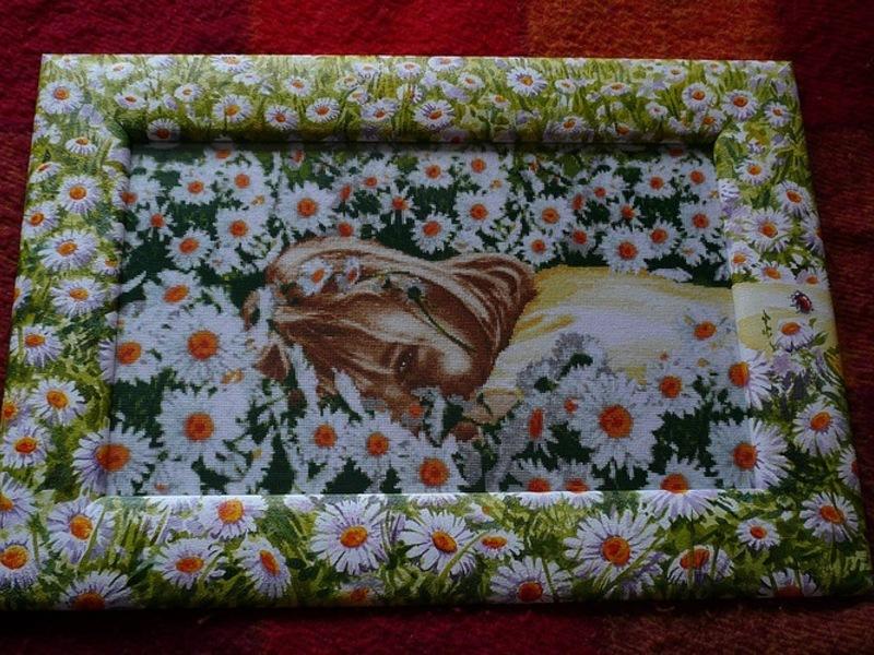 Паспарту для вышивки своими руками с декоративным оформлением рамки и картин