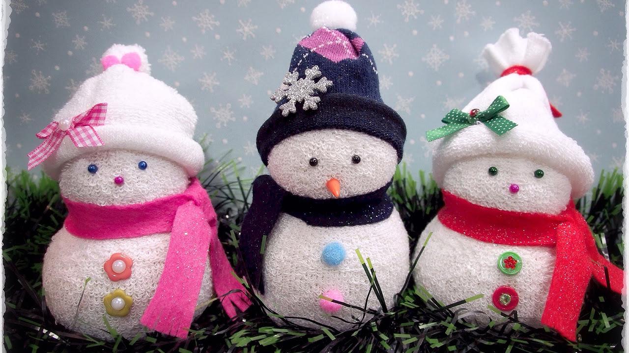 Снеговик своими руками на новый год - поделка в детский сад и школу из подручных материалов