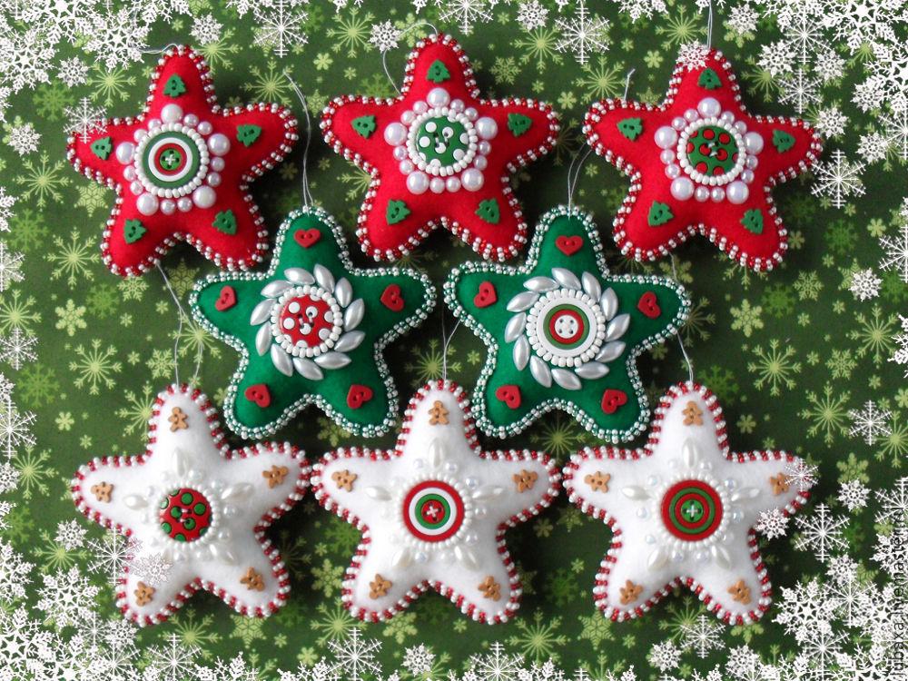 Новогодние поделки из фетра: что можно сделать своими руками как украшение елки и дома