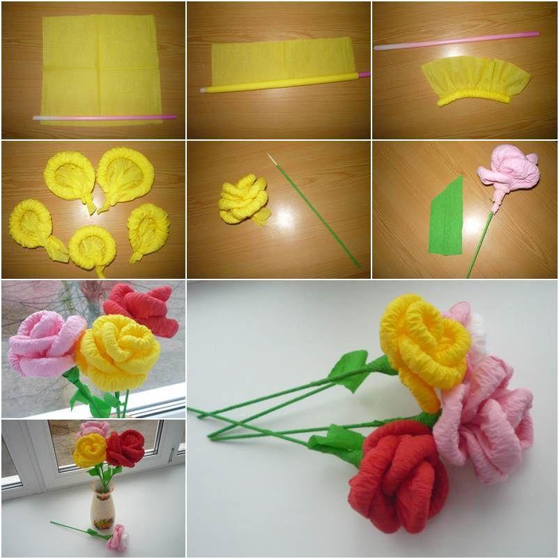 Цветы из салфеток в вазе. как сделать цветы из салфеток своими руками поэтапно. фото. цветы из конфет и салфеток своими руками: мастер-класс по созданию букетов