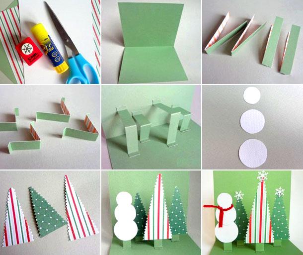 Новогодние открытки своими руками. делаем открытки на новый год вместе с детьми