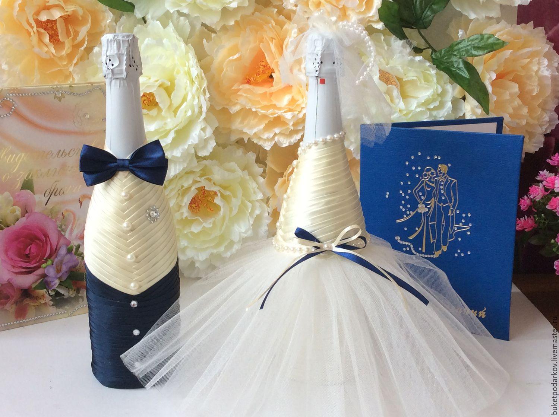 Оформление свадебных бутылок: как украсить шампанское, идеи и фото