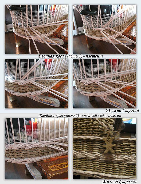 Плетение из газетных и бумажных трубочек - фотоотчёты.