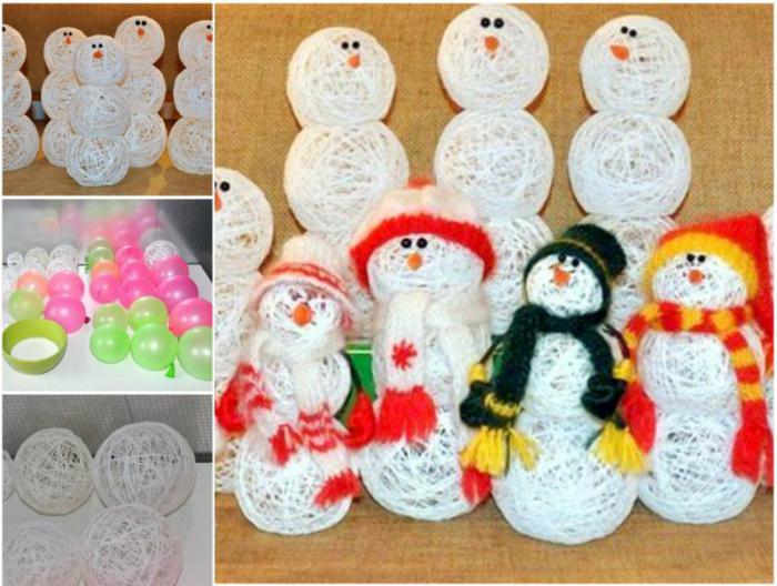 Поделка снеговик вместе с детьми легко и просто дома