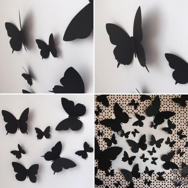 Бабочки на стену - 75 фото вариантов стильного оформления в интерьере