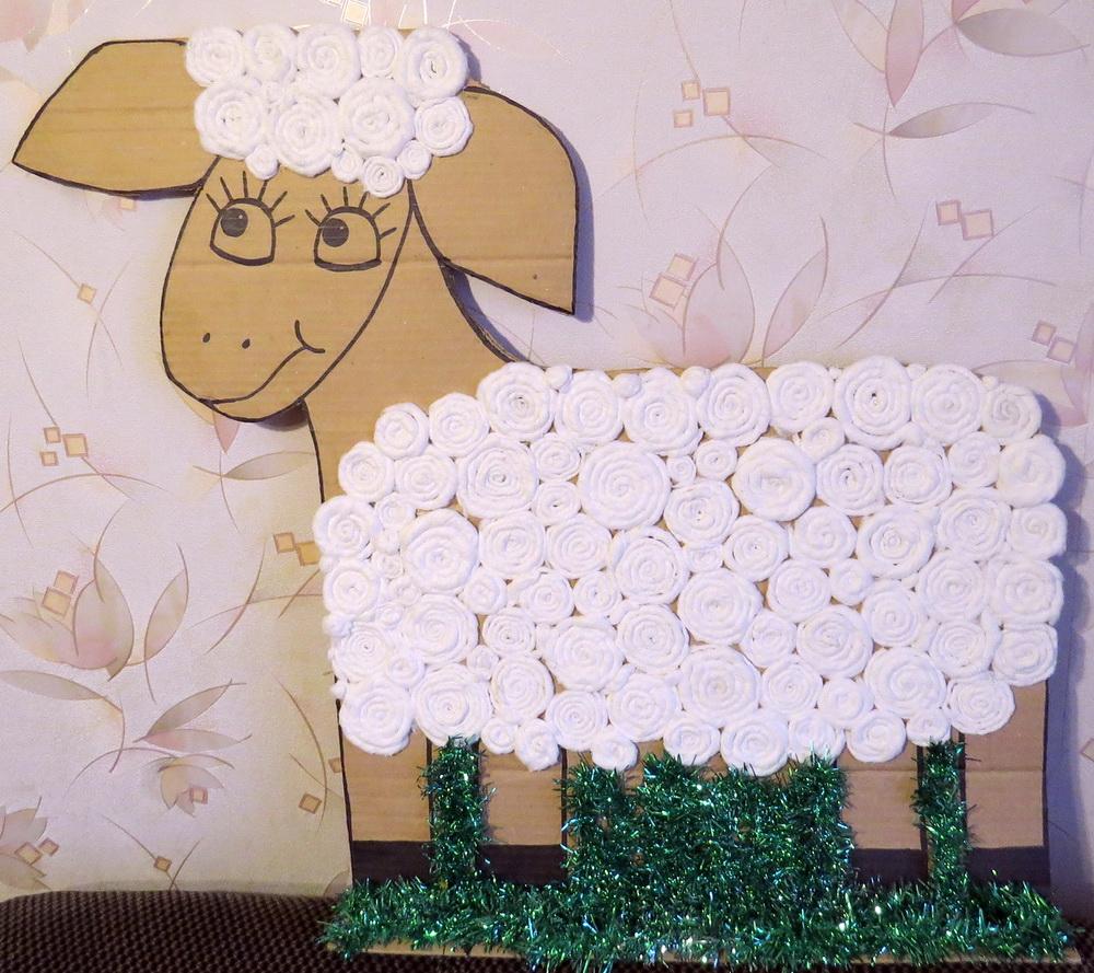 Как слепить овечку из глины или мастики
