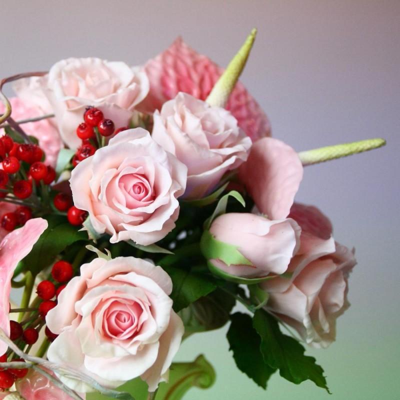 ᐉ цветочной композиции и холодного фарфора - своими руками -