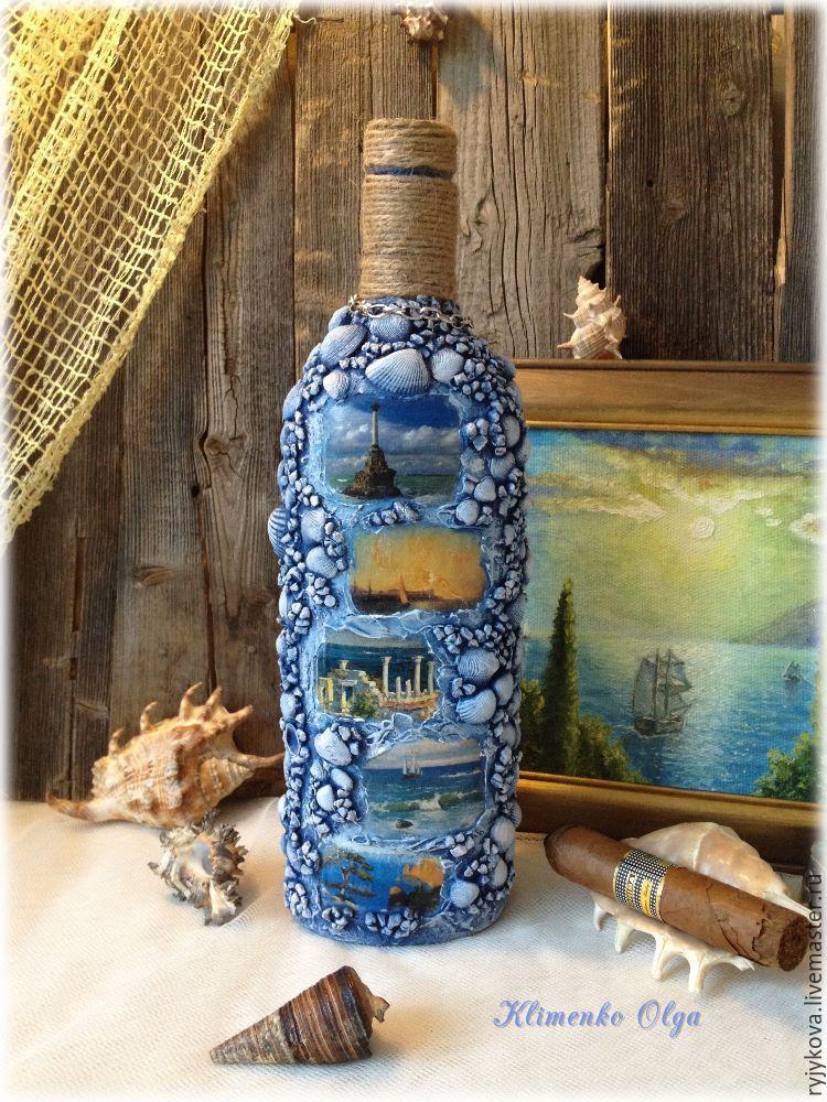 Декоративная бутылка «Воспоминания о море»