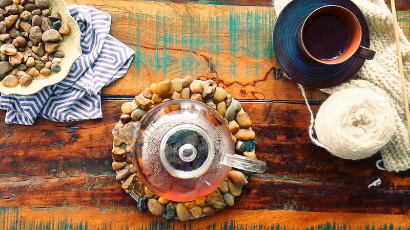 Цитрусовые подставки из фетра под кружку горячего чая: уютный подарок к новому году своими руками
