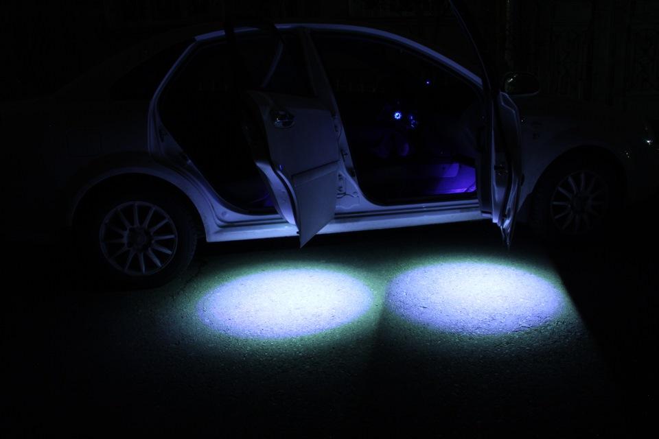 Подсветка дверей в автомобиле своими руками: инструкция
