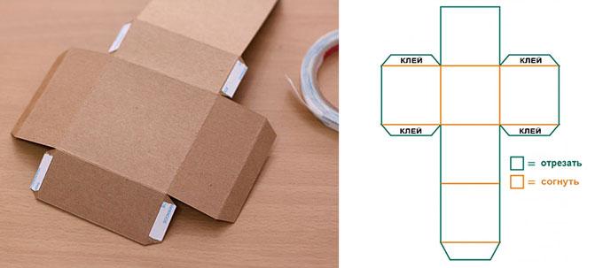 Создание картонной коробки своими руками: сделайте подарок неожиданным