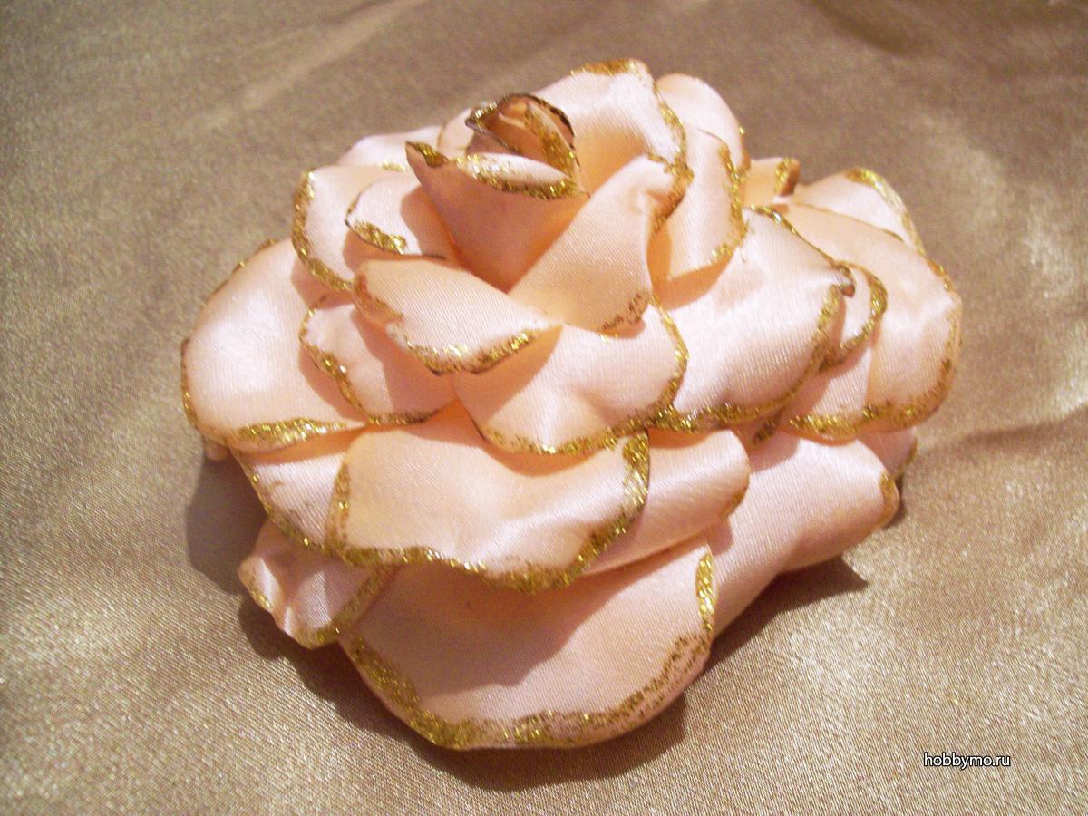 Как сделать розу из ткани своими руками пошагово: мастер-класс с видео