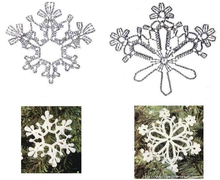Вязание крючком снежинки своими руками - пошаговая инструкция для начинающих с фото примерами