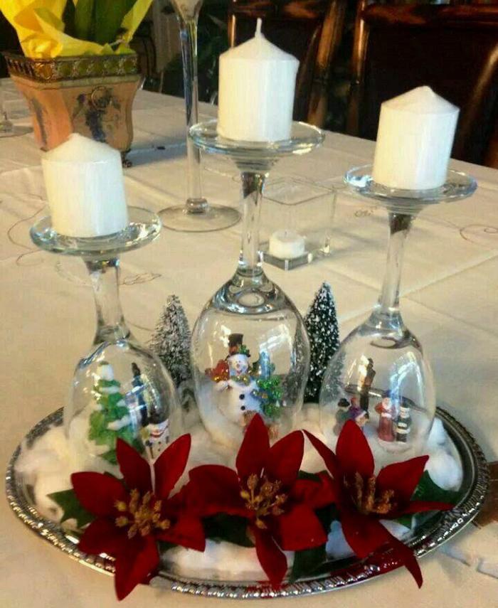 Чудесные новогодние подсвечники из бокалов своими руками