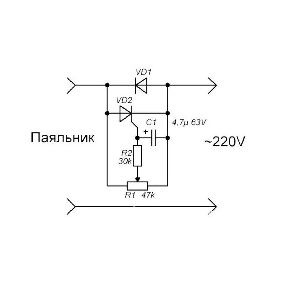 Регулятор мощности для паяльника на тиристоре, симисторе и микроконтроллере, сделанный своими руками