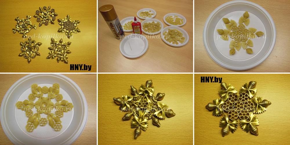 Поделки из макарон - украшение и оформление интересных подарков (110 фото)