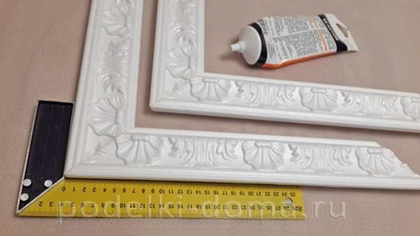Изготовление рамок из потолочного плинтуса