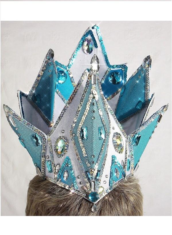 Корона снежной королевы из картона