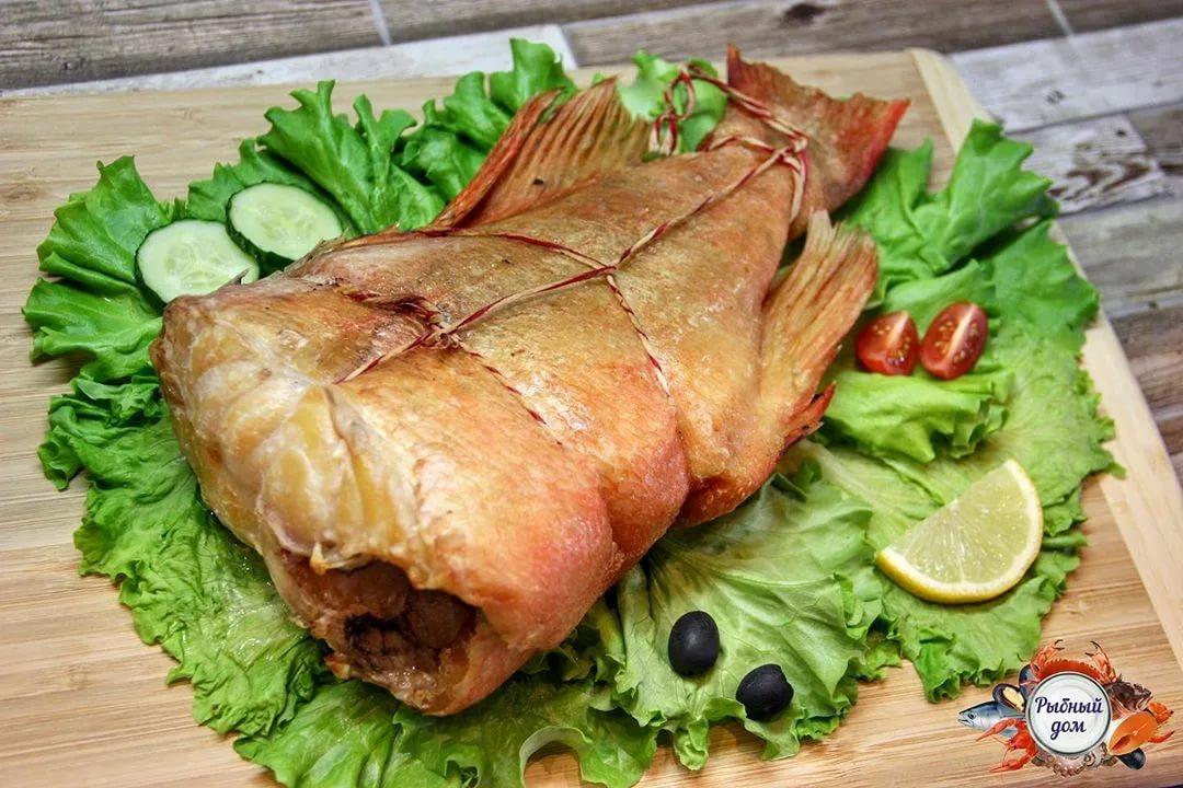 Морской окунь горячего копчения – кулинарный рецепт