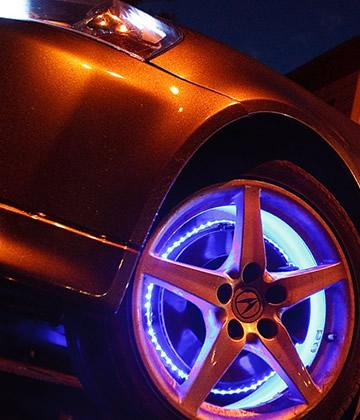 Подсветка дисков автомобиля – выбор и установка световых элементов +видео | tuningkod