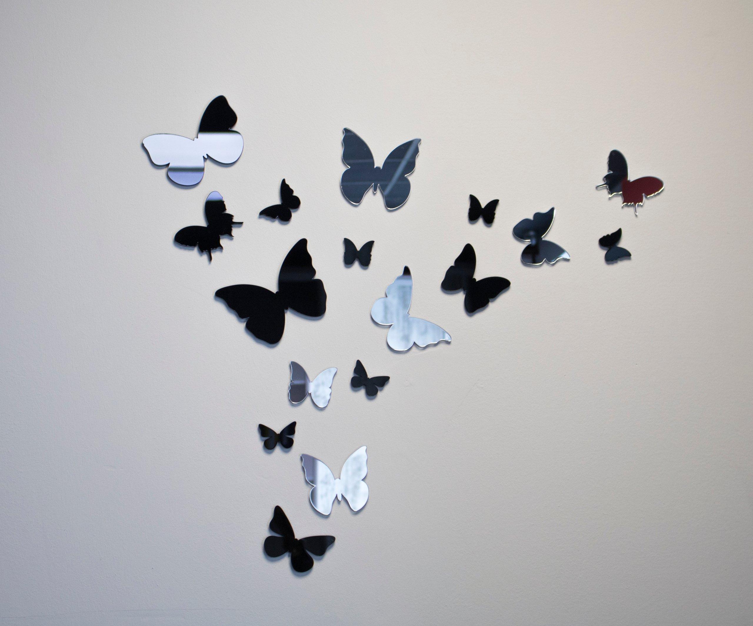 Бабочки на стену — идеальный вариант декора стен (75 фото)