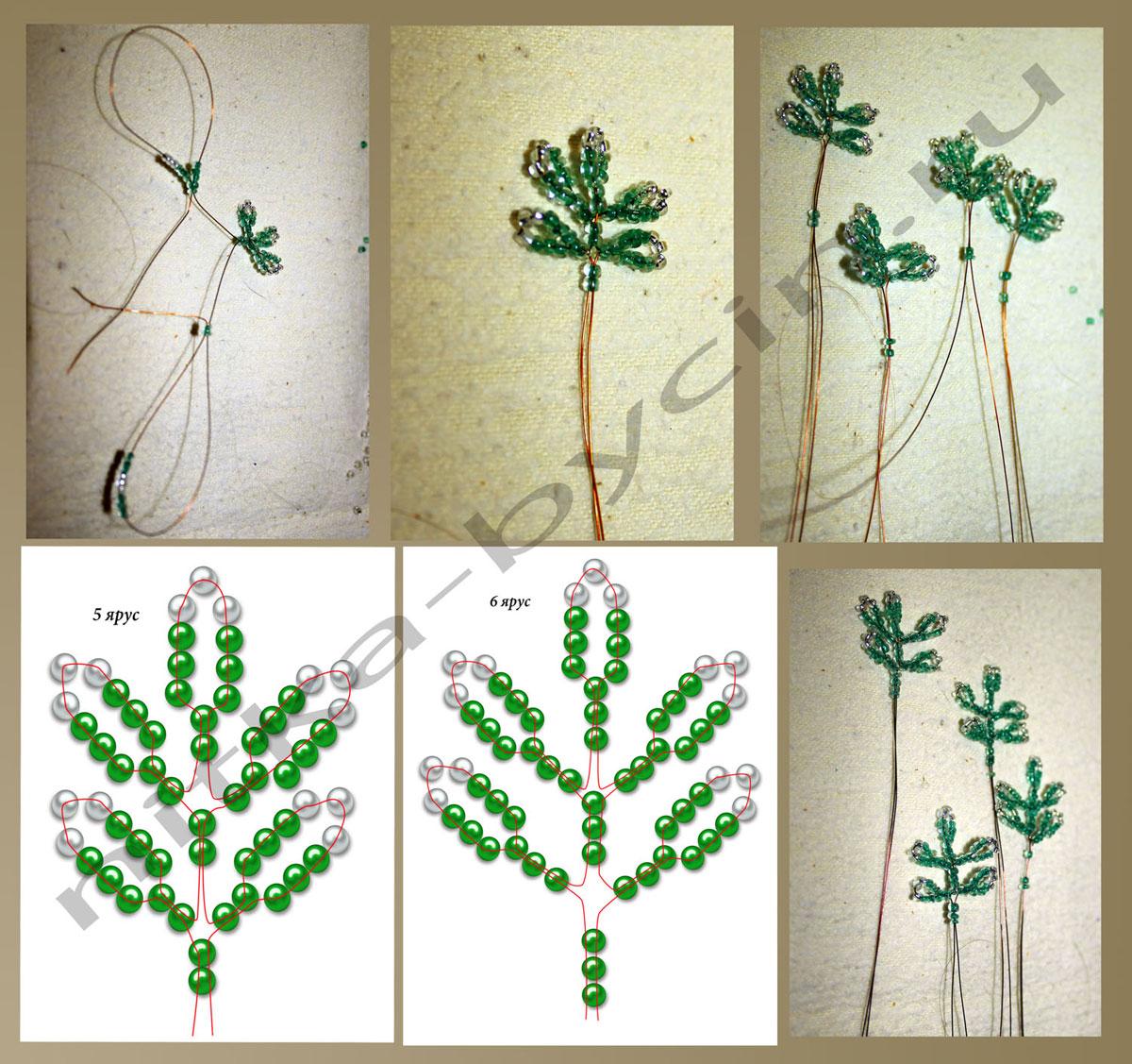 Новогодняя елка из бисера: мастер класс и схема для начинающих