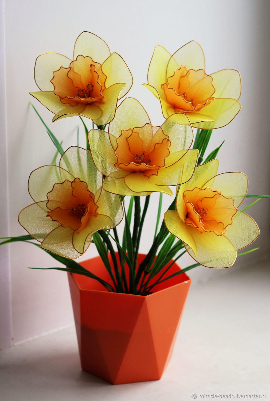 Цветы из капрона (много фото)   страна мастеров