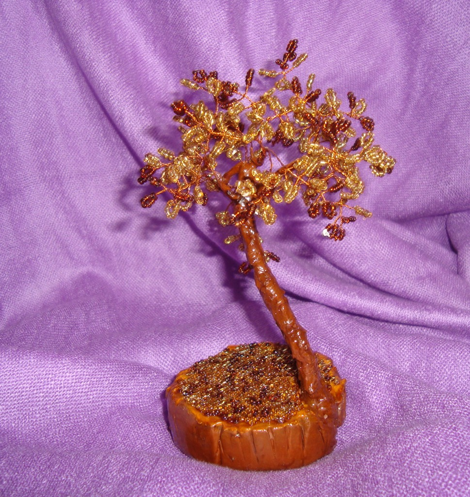 Времена года. плетем деревья из бисера