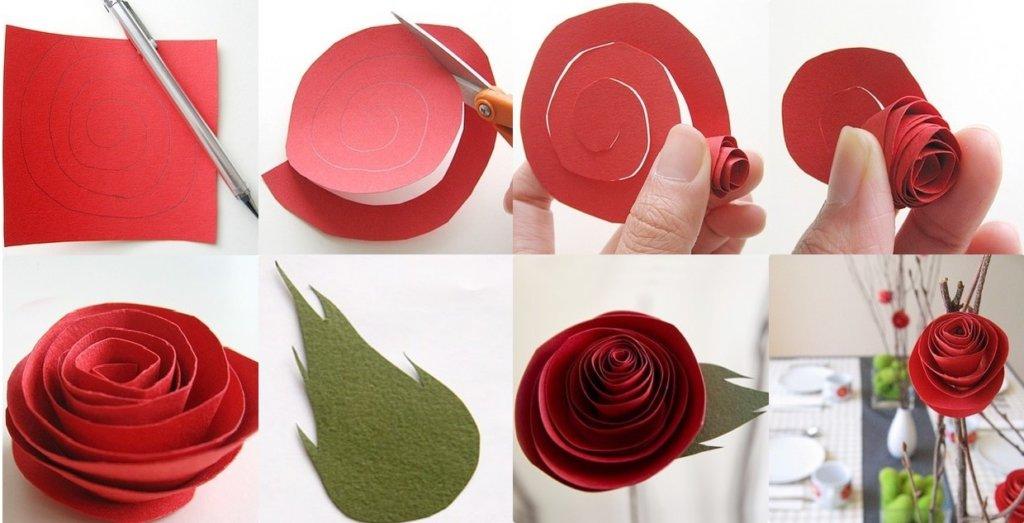 Розы из гофрированной бумаги — самые простые способы сделать цветы
