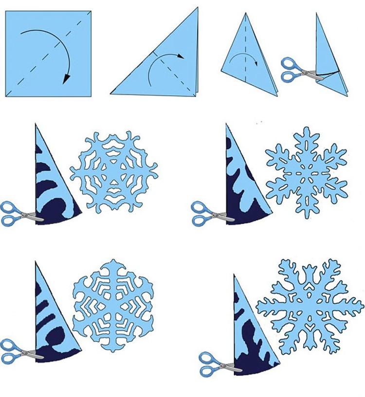 Снежинки из бумаги своими руками на новый год: как сделать, вырезать по шаблону | все о рукоделии