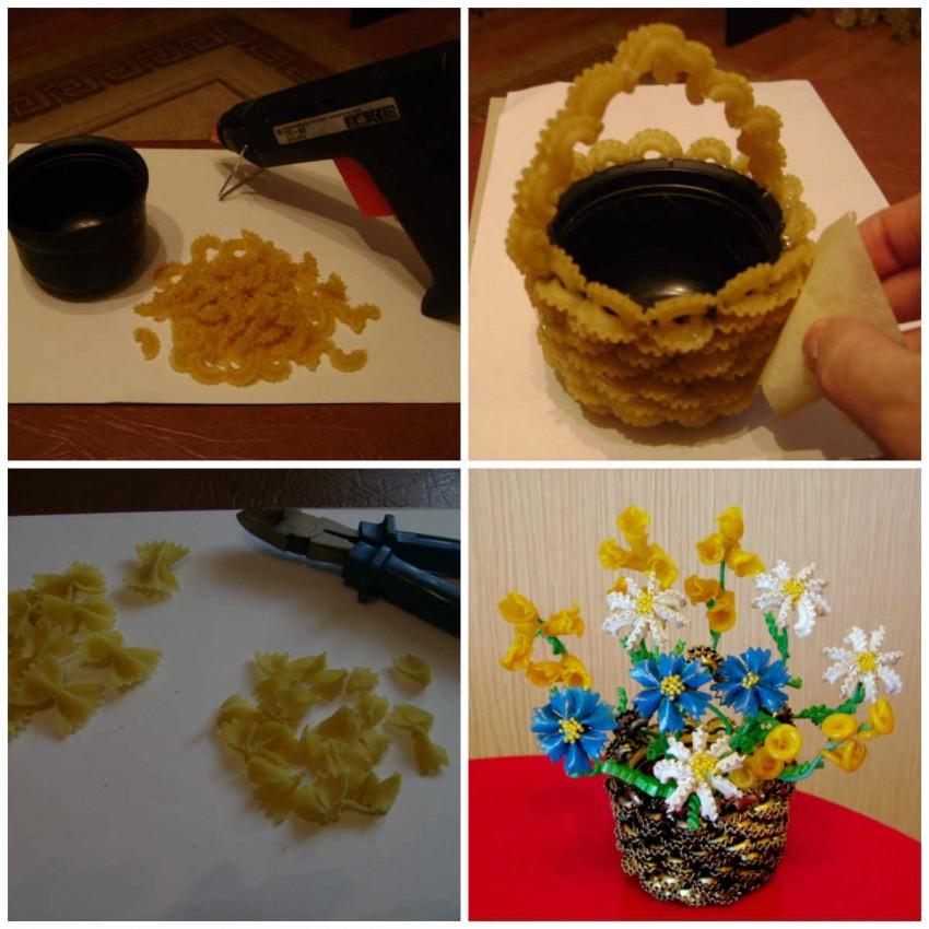 12 идей: поделки из макарон своими руками для детей +75 фото