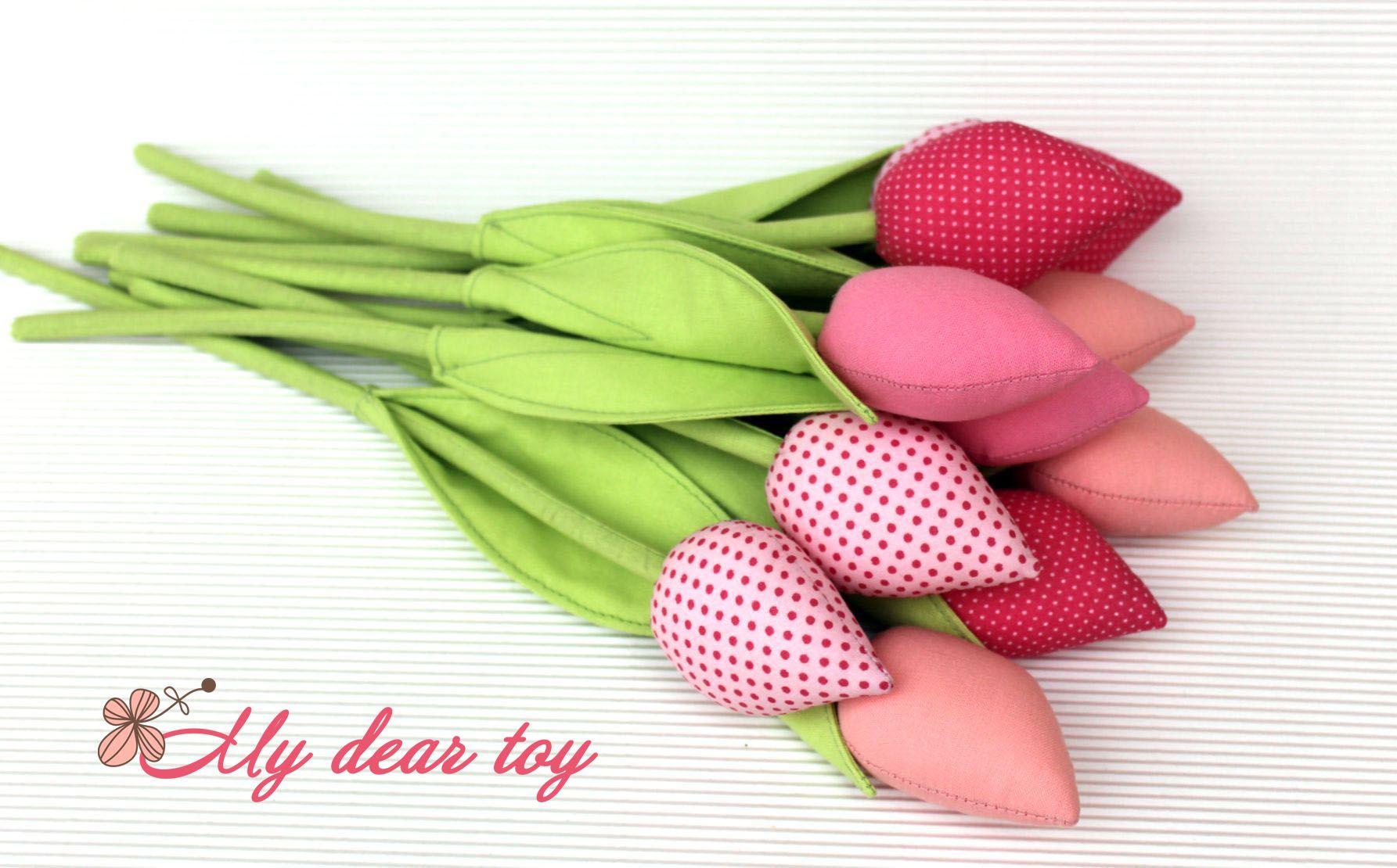 Восхитительный букет из тильда тюльпанов