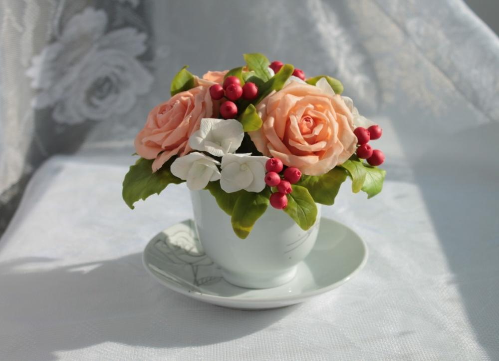 Как делать цветочки из фарфора своими руками. цветочной композиции и холодного фарфора