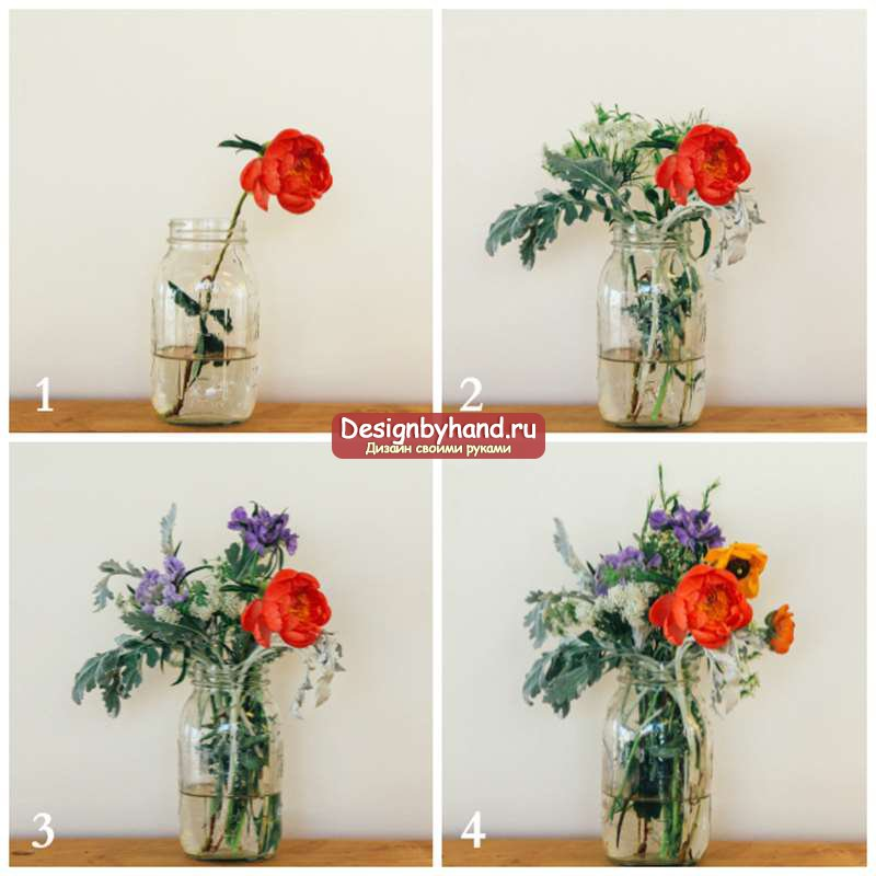 Композиции из искусственных цветов пошаговая инструкция. композиция из цветной соли и искусственных цветов. цветочные композиции в интерьере