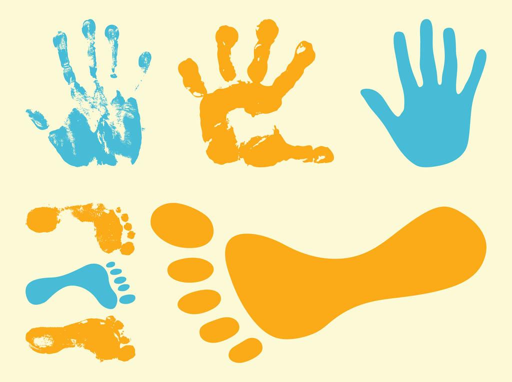 отпечатки рук и ноги: картинки для детей – как рисовать с помощью следов