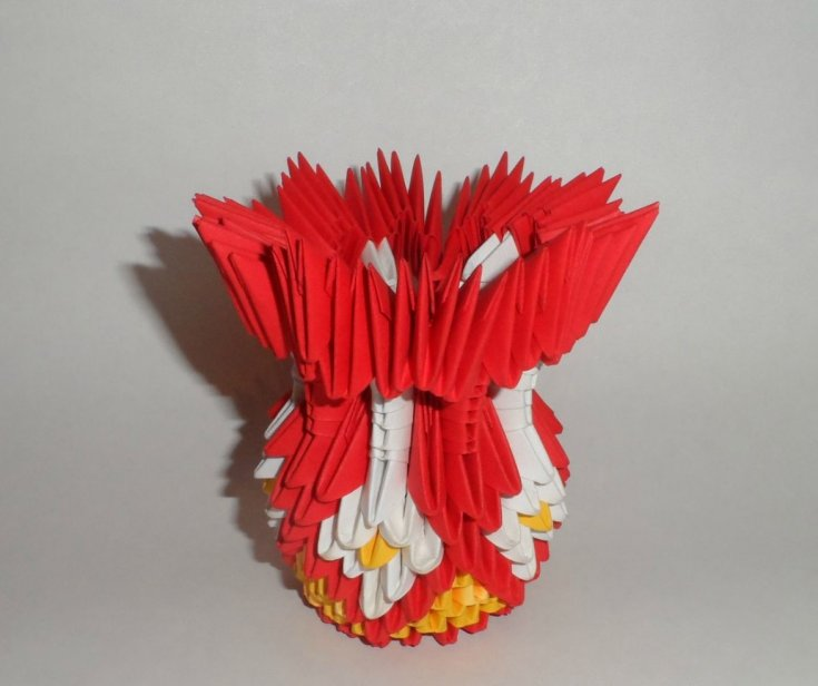 Ваза оригами из модулей для начинающих: схемы сборки и описание по изготовлению