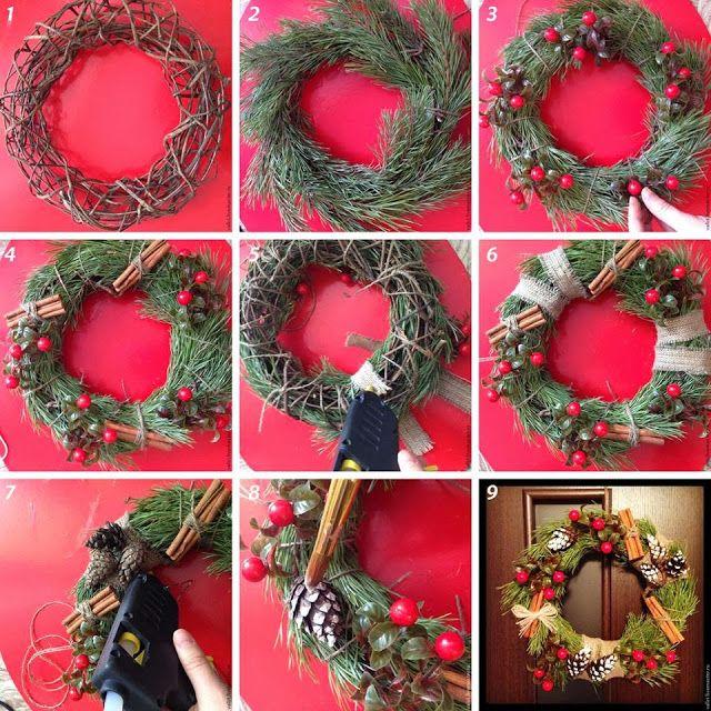 Рождественский венок своими руками. как сделать красивый венок на новый год