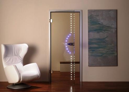 Межкомнатная дверь с подсветкой