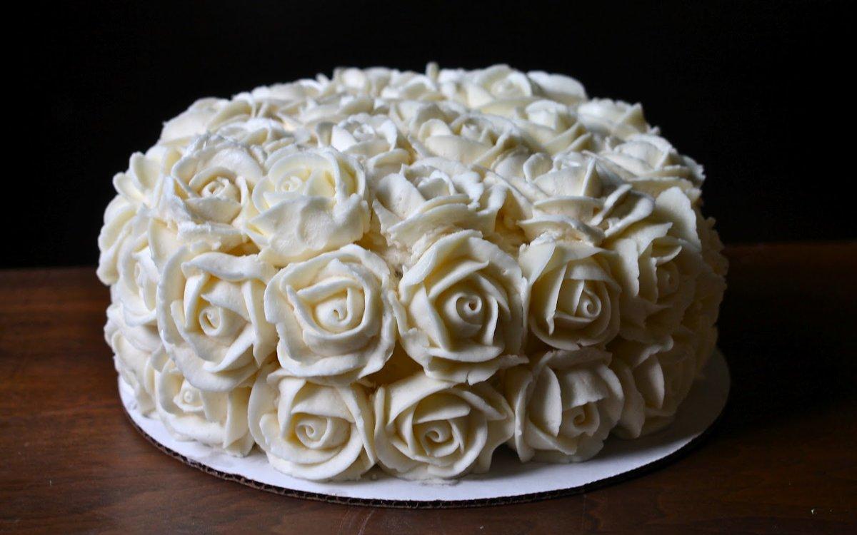Розочки из крема для торта – кулинарный рецепт