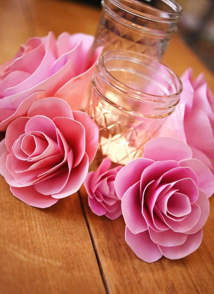 Розы из бумаги своими руками: пошаговая инструкция как быстро и просто сделать красивую розу (100 фото)