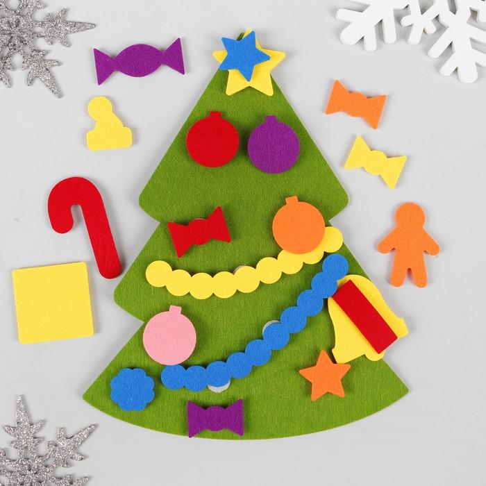 Поделка изделие новый год красивые елочки из фетра + их выкройки  ткань