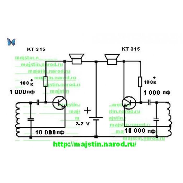 Самодельный металлоискатель на микросхеме, схема металлоискателя   я и диод