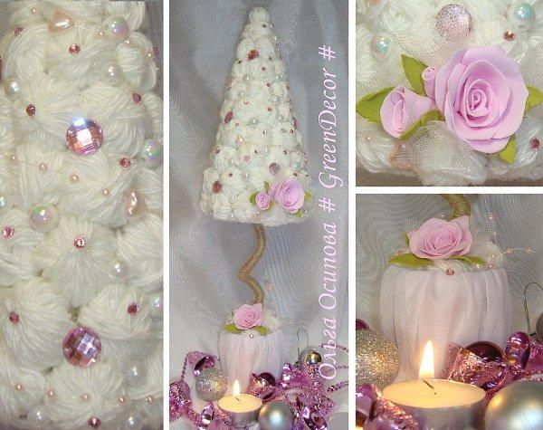 Новогодняя елка из атласных лент. мастер – класс с пошаговым фото. красивая новогодняя елка канзаши из атласных лент