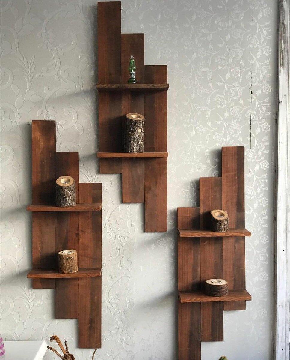 Сделать полку своими руками из дерева, настенную полку из разного материала