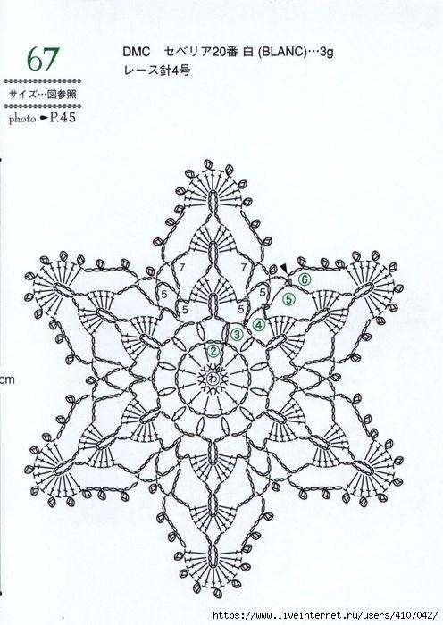 Простые и красивые вязаные снежинки крючком: со схемами и описанием