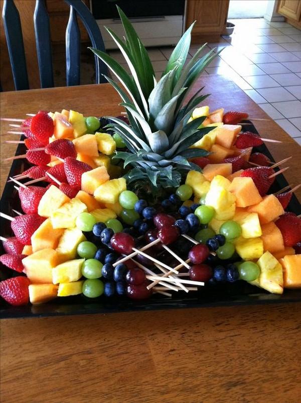Как нарезать фрукты? фруктовая тарелка, корзина или букет из фруктов, канапе из фруктов на шпажках