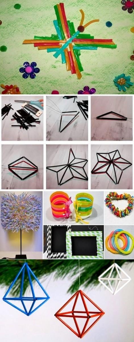 Поделки из трубочек: 100 лучших способов создания поделок из трубочек + простые схемы и фото лучших работ