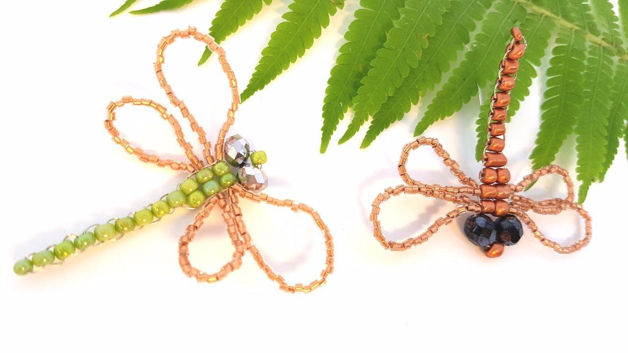 Несколько вариантов плетения стрекозы из бисера
