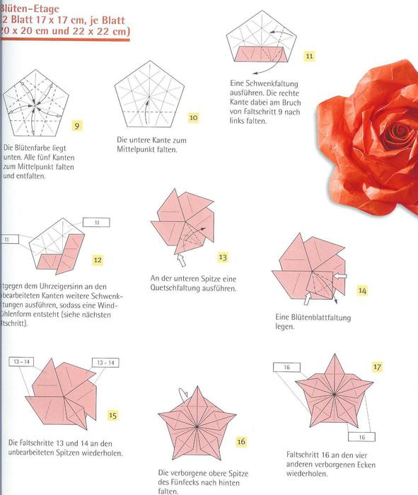 Простые розы из бумаги своими руками, 11 мастер-классов