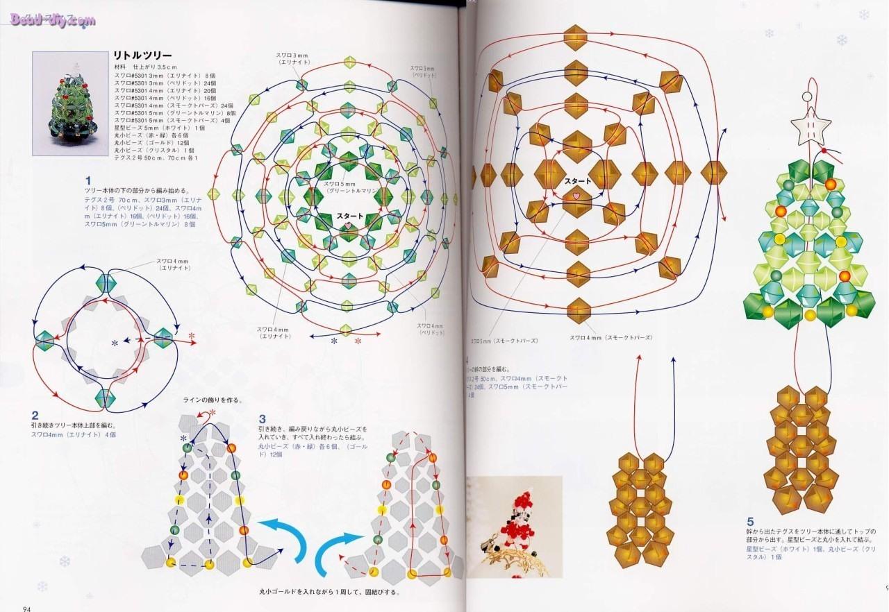 Мастер-класс: елка из бисера своими руками по схемам